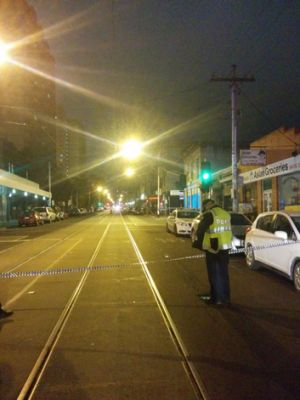 Police cordon off the affected area.