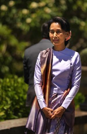 The bill for Burma's National League for Democray leader Aung San Suu Kyi's five night visit was $39,173.