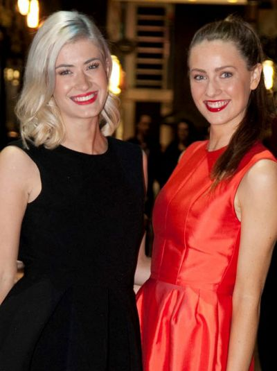 City girls: Zoe Brindley (left) and Pia Lukaitis at the opening of Stokehouse City.