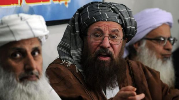 Members of a committee from Tehreek-e-Taliban Pakistan (TTP) which was set up to hold peace talks with the government of ...