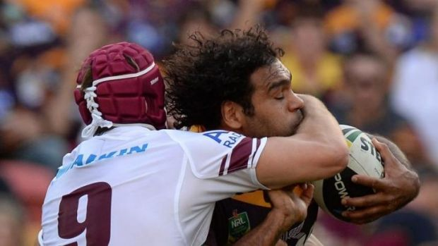 He's back: Big Sam Thaiday is a key player for the Maroons and Broncos.