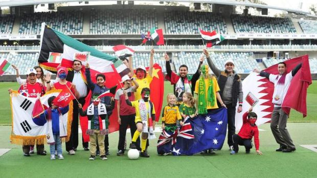 Canberra fans determined to show support   are Keith Lee for South Korea, Yasmina Pratt for Oman, Sam Yang for South ...