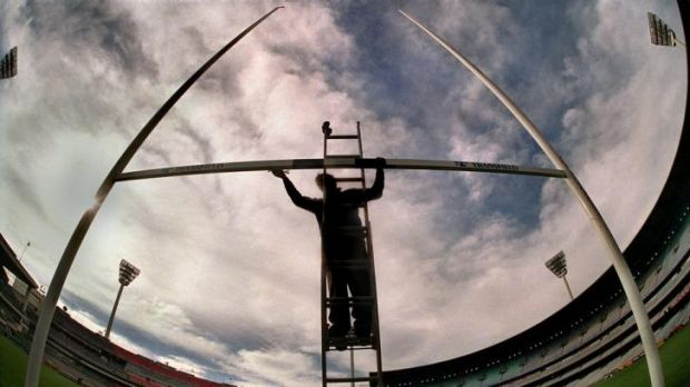Preparing the MCG for State of Origin in the '90s.