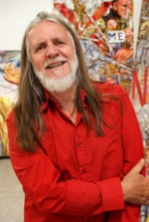 Focus on war: Artist George Gittoes is exhibiting work from throughout his career at Hazelhurst Gallery.