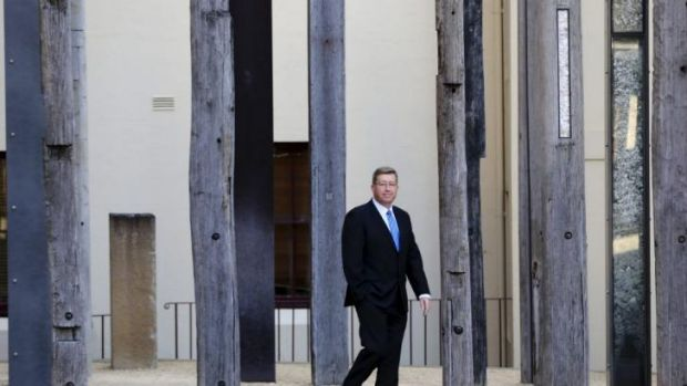 Real deal: NSW Arts Minister Troy Grant outside the Museum of Sydney.