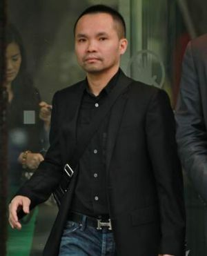 High-rolling gambler, Pete Han Hoang leaving court earlier this year.