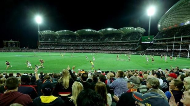 The Crows' average attendance at Adelaide Oval is more than 47,000 - 16 per cent ahead of projections - lifting their ...