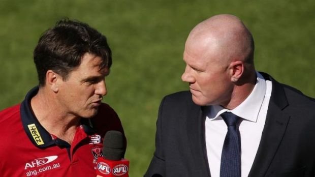 Paul Roos with Barry Hall