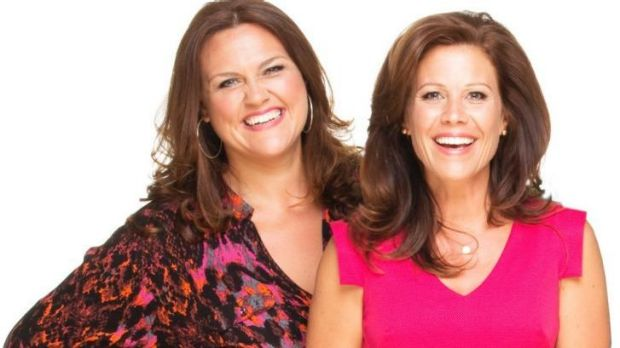 'Hysterical and historical' ... Chrissie Swan and Jane Hall over breakfast radio win.