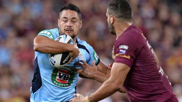 Centre of attention: Man of the match from Origin I, Jarryd Hayne of the Blues, may switch from fullback to centre.