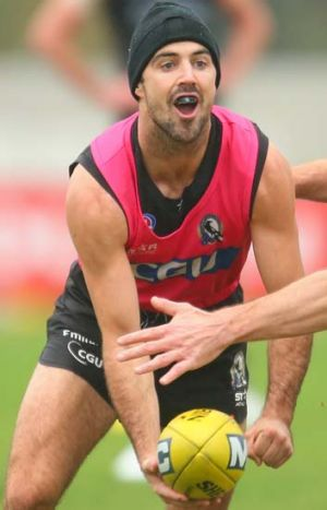 Steele Sidebottom focuses on his football.