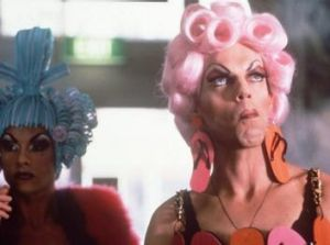 Hugo Weaving and Guy Pearce as drag queens in <i>The Adventures of Priscilla, Queen of the Desert</i>.