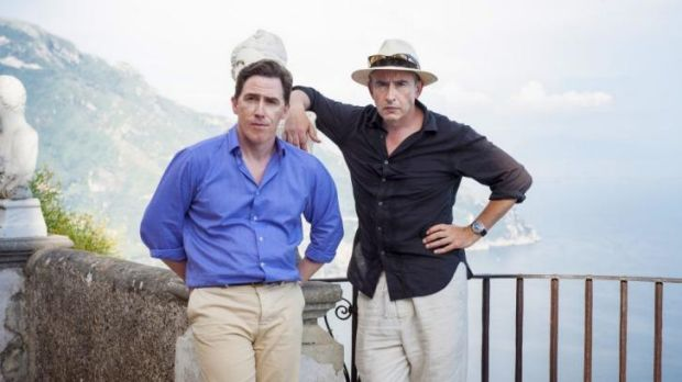 Brits abroad: Rob Brydon (left) and Steve Coogan in <i>The Trip to Italy</i>.