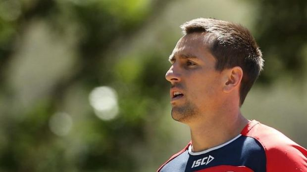 Dry spell: Roosters teammates have joined Mitchell Pearce on a booze ban.