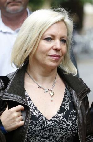"""""""It's sort of laughable"""": Bindi Nicholls arrives at Southwark Crown Court in London."""