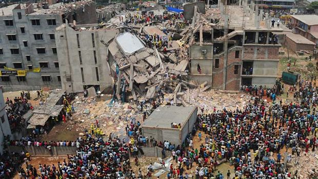 Killers: 175 workers died when a building on Dhaka's outskirts collapsed in April last year.
