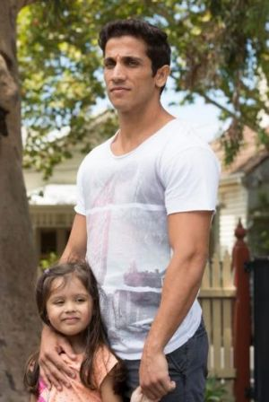 At home: Firass Dirani in the new series of House Husbands.