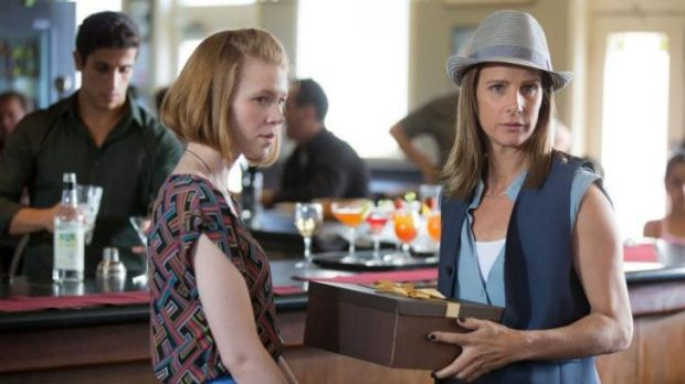Family: Anna McGahan (left) as Lucy and Rachel Griffiths as her mother in the new series of House Husbands.