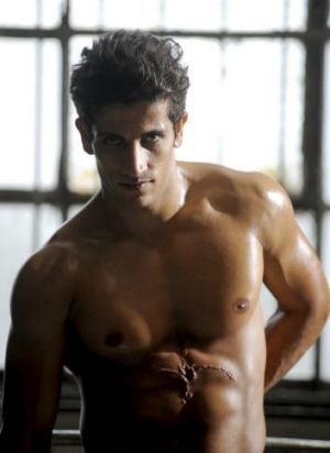 Ripped: Firass Dirani as club owner John Ibrahim in Underbelly: The Golden Mile.