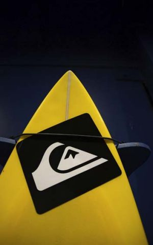 Crashing down: Quiksilver reported a 9 per cent drop in net revenue and a net loss of $US42 million in its second quarter.