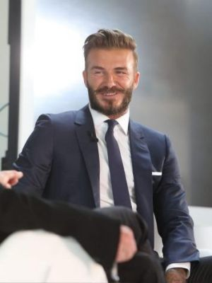 """David Beckham attends a photocall to launch """"David Beckham: Into The Unknown""""."""