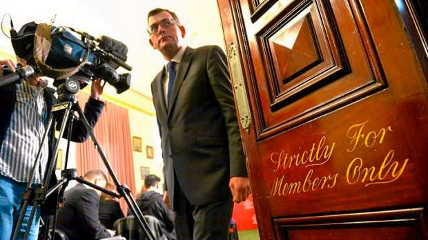 Opposition leader Daniel Andrews after a media conference at Parliament House on Wednesday.
