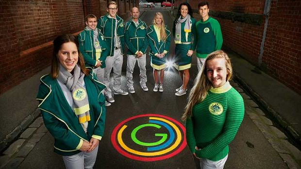 Glasgow Commonwealth Games athletes Belinda Hocking, Grant Nel, Mack Horton, Steve Moneghetti, Brooke Stratton, Bianca ...