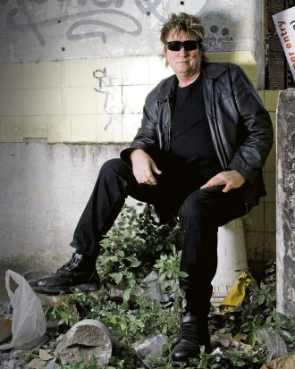 Portrait of Doc Neeson, front man for The Angels, 2011.