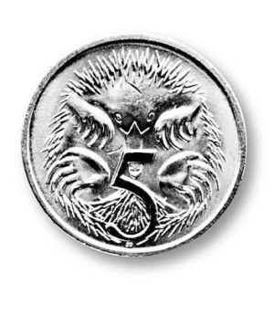 The five cent coin actually costs six cents to produce.