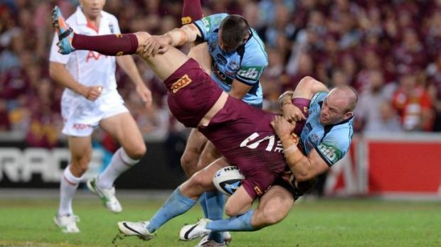 The tackle on Brent Tate which sparked an outcry.