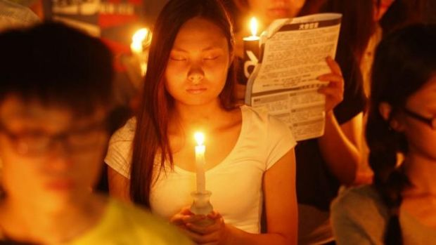 Tens of thousands of people attended the vigil at Victoria Park.