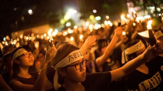 The crowd was noticeably younger than previous years, reflecting a shift in the role of the vigil from defiant ...