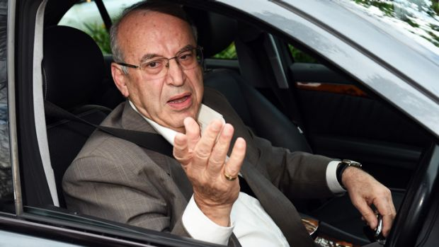 Eddie Obeid arrives home after the ICAC findings.