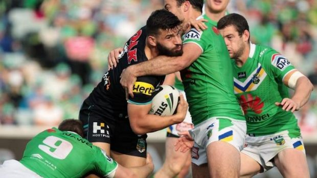 In the wings: Josh Mansour of the Panthers.