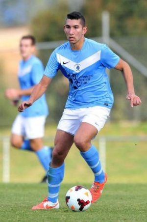 George Timotheou in action for Belconnen United last weekend.