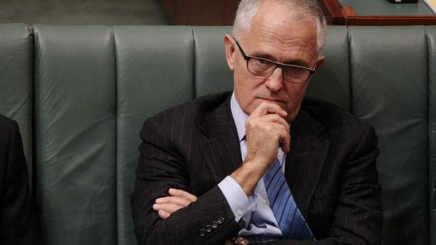 Communications Minister Malcolm Turnbull listens during question time on Thursday.