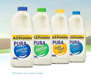 The new labels used by Pura.