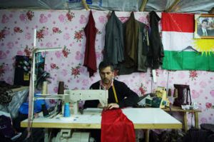 Inside a bridal shop in the Kawergosk refugee camp.