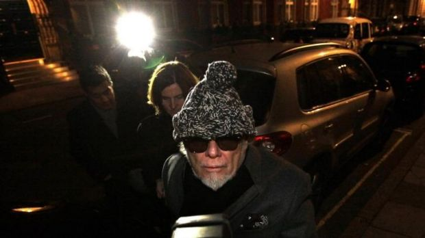 Paul Gadd, aka Gary Glitter, after being questioned by police during the Jimmy Savile scandal in 2012.