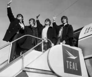 The Beatles leave Sydney airport for New Zealand, 21 June 1964.