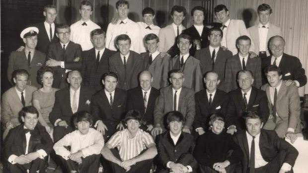 Flash back: (back row, far right): Noel Tresider; Johnny Devlin (third from right); Johnny Chester (fourth from right; ...