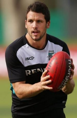 Ruled out: Port Adelaide skipper Travis Boak will miss the clash with St Kilda.