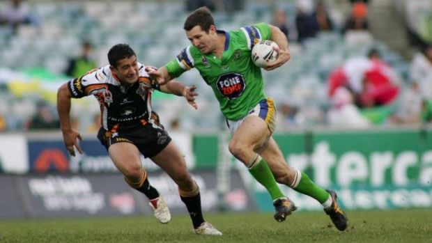 Clinton Schifcofske during his time at the Raiders in 2006. He says the NRL needs to look at salary cap concessions for ...