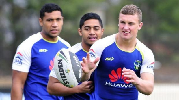 Jack Wighton at Raiders training on Wednesday.