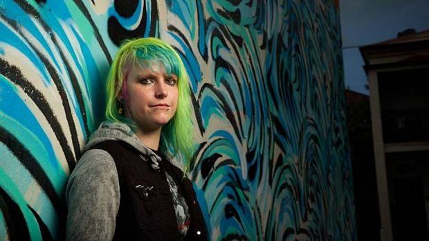 """Colourful: Rachelle Piercy says the punk fraternity these days is more of """"a big family"""" focused on the music."""