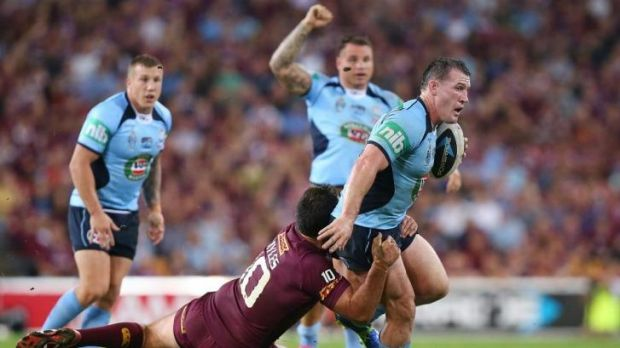 On the move: Gallen breaks the line in Origin I.