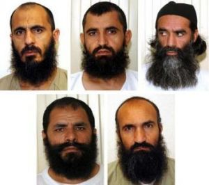 The five Taliban prisoners released in exchange for Sergeant Bergdahl (from top left): Mohammad Nabi Omari, Abdul Haq ...