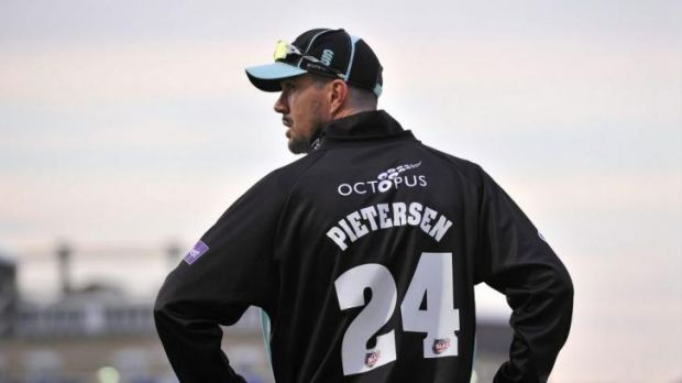 Kevin Pietersen on the field during Surrey's Twenty20 match against Essex at The Oval on Friday.