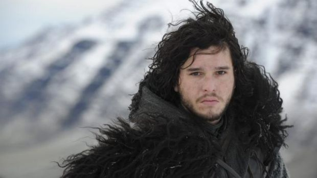 Leadership and looks ... Jon Snow (Kit Harington) helps lead the Watches of the Wall in a bloody battle against the ...