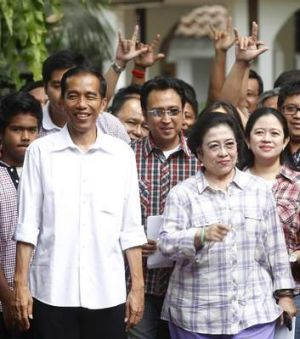 No walk in the park: Jokowi with former Indonesian president Megawati Sukarnoputri in 2012. His support has recently ...